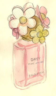 Marc Jacobs Daisy, via Alexaelizalde Daisy Perfume, Daisy Eau So Fresh, Makeup Illustration, I Believe In Pink, Art Portfolio, Beauty Art, Doodle Art, Cute Wallpapers, Pretty In Pink