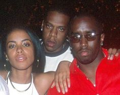 American Hip hop music icons! Jay Z, Aaliyah, and Diddy! @Cassandra Power 106 Los Angeles #Power106WhereHipHopLives www.artistdds.com