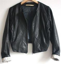 WHYRED svart stilren skinnjacka 38 indie vintage retro höst på Tradera