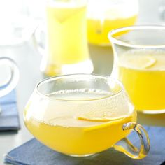 Hot Spiced Lemon Drink Recipe -I received this recipe from a lady in our church who is an excellent cook. She has shared several slow cooker recipes with us. We really enjoy the sweet-and-tangy flavor of this warm citrus punch. —Mandy Wright, Springville, Utah