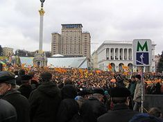 "wiki: Orange Revolution: ""22 November 2004, massive #protests started in cities across Ukraine: the largest, in Kiev's Maidan Nezalezhnosti (Independence Square), attracted an estimated 500,000 participants, who on 23 November 2004, peacefully marched in front of the headquarters of the Verkhovna Rada, the Ukrainian parliament... One of the most prominent #activists of that time was Paraska Korolyuk, subsequently bestowed with the Order of Princess Olga."""
