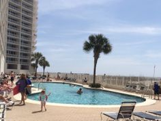 The outdoor pool at the Lighthouse Condominiums