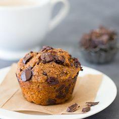 Healthier Pumpkin Chocolate Muffins