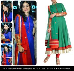 Amrita Rao in a SVA suit. Available at: www.kimaya.in