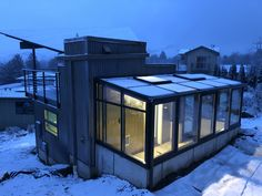 modern style greenhouse attached to studio in Boise Idaho, built by Greenhouses Etc. Boise Idaho, Greenhouses, Studio, Building, Modern, Style, Green Houses, Buildings, Window Greenhouse
