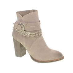 Zanga Suede Ankle Boot With Buckle Grey