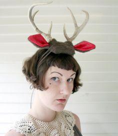 Deer Antler Headband  brown with natural antlers by doublespeak, $130.00 deer costume halloween
