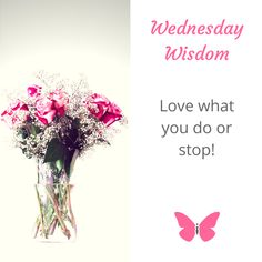 """""""Love what you do or"""