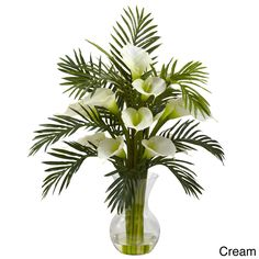 Nearly Natural Calla Lily and Palm Combo Decorative Plant (Calla Lily & Palm Combo -