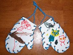 sewing card mittens
