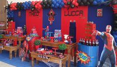 Momento Mágico Decorações : Homem Aranha - Théo e Lucca
