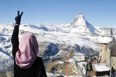 What's on top of Matterhorn, Switzerland at Gornergrat station.