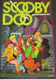 COLORFORMS: 1976 Scooby Doo Set #Vintage #Toys