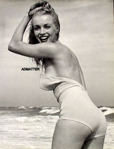 MARILYN MONROE #icon #beachicon #vintage #swimwear #glamour #bikinigirl