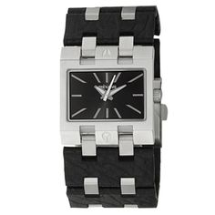 @Overstock - This stylish women's 'Rig' watch from Nixon features a stainless steel case with a coordinating silver and black stainless steel and leather bracelet. The black dial sets the stage for luminescent silvertone hands and hourly markers.http://www.overstock.com/Jewelry-Watches/Nixon-Womens-Stainless-Steel-Rig-Watch/7509081/product.html?CID=214117 $112.49