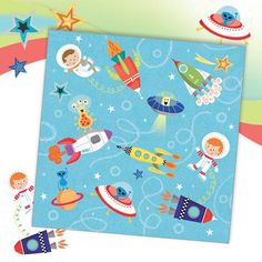 Space  - Boy's birthday cards from Phoenix Trading  £1.75 per card or £1.40 when buying 10 or more.  Children, Children's birthday cards