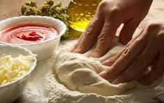 Italian Pizza Dough We teach you how to cook easy recipes like the Italian Pizza Dough recipe and many other cooking recipes . Italian Pizza Dough Recipe, Challah, Food Categories, Diy Food, Fresh Rolls, Cooking Recipes, Gourmet Recipes, Easy Recipes, Easy Meals
