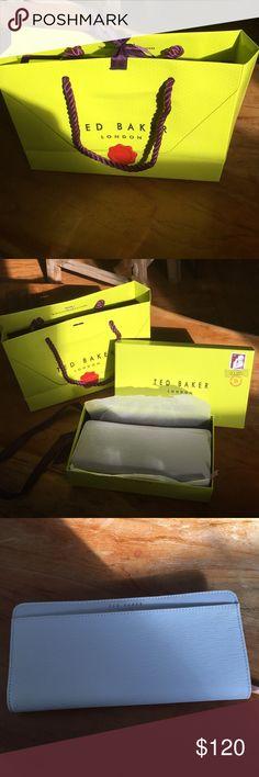 Ted Baker NWT yasmine bar zip wallet light grey Brand NWT yasmine wallet. Ted Baker Bags Wallets