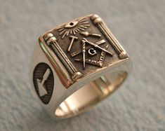 KNIGHTS TEMPLAR MASONIC tempelritter cross silver 925 ring red