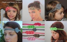 Simple and Sweet Crochet Tie Back/ Headband free pattern