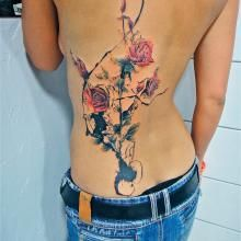 xoil rose tattoos | ... - Needles Side Tattoo: Part 2 - Studio Profile | Big Tattoo Planet