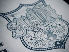 Sketch for my design I did for The Salvation Army - this is going to be a nice big back print and it's got a monogram in a matching style on the front. Due out in January for WARdrobe: Army Apparel.