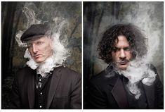 Portraits on Behance Prop House, Men Photoshoot, Photography Editing, Jon Snow, Behance, Smoke, Black And White, Male Portraits, My Style