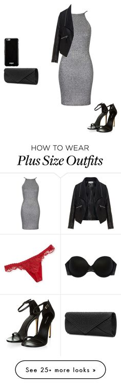"""""""Untitled #326"""" by leisharomano on Polyvore featuring Addiction, La Perla, Topshop, Zizzi, Mascara, Givenchy, women's clothing, women, female and woman"""