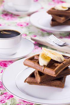 waffle integral de cacau