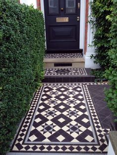 Victorian Mosaic tile path London Curb Appeal ; Gardenista                                                                                                                                                                                 More