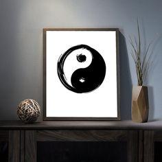 Ying Yang Symbol Digital Art Print  Inspirational by deificusArt
