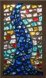 Dalle de Verre Mosaic Art, Mosaic Glass, Glass Art, Plaster House, Dallas, Rainbow Colours, Annex, Faceted Glass, French Artists