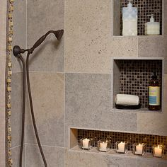 Redoing Your Shower Consider A Built In Niche For
