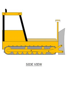 Twin Size Bulldozer Bed PLANS (pdf format), Create a Construction Themed Bedroom for your Child, Perfect for the DIY Woodworking Enthusiast Woodworking Apron, Youtube Woodworking, Woodworking For Kids, Woodworking Workshop, Woodworking Classes, Woodworking Plans, Woodworking Projects, Woodworking Shop, Wood Projects