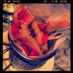 Chilli battered prawns