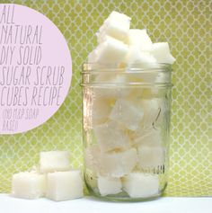 DIY Homemade Moisture Intense White Tea Solid Sugar Scrub Cubes Recipe - Doesn't contain a melt and pour soap base!