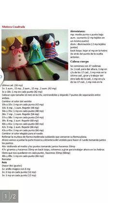Muñecas Cuadradas con patron