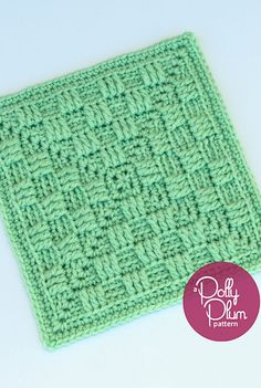 [Free Crochet Pattern] Stunning Texture-Rich Afghan Square With Checkerboard Look