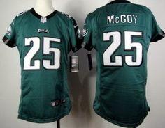 Youth 2012 Nike Philadelphia Eagles 25 LeSean McCoy Green Jerseys