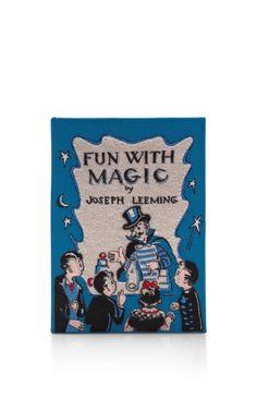 Fun With Magic Book Clutch by Olympia Le-Tan for Preorder on Moda Operandi