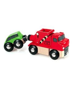 Another great find on #zulily! Tow Truck Toy Set #zulilyfinds
