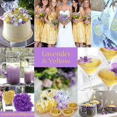 El lavanda y el amarillo hacen un perfecto dúo para tu decoración de boda