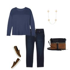 It doesn't get more classic than straight leg jeans and a crew neck sweater! But, it's fun to rock this look with cheetah print sneakers to keep things fun and casual. Perfect for a lunch date with a friend! Fall Winter Outfits, Cheetah Print, Dress To Impress, Plus Size Outfits, Personal Style, Cool Outfits, Outfit Ideas, Crew Neck, Lunch