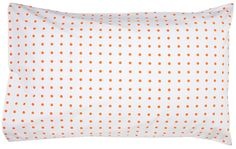 fluro orange spot pillowcase