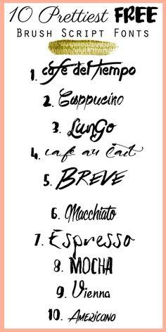 10 Prettiest FREE Brush Script Fonts