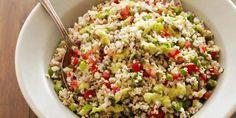 Get Bulgur Salad with Green Onion Vinaigrette Recipe from Food Network Bulgur Recipes, Food Network Recipes, Cooking Recipes, Cracked Wheat, Food Network Canada, Fresh Mint Leaves, Tasty, Yummy Food, Bulgur