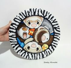 Original Ferret Painting on Round Canvas Whimsy Animal Print - Shelly Mundel #IllustrationArt Round Canvas, Ferret, Original Artwork, Illustration Art, The Originals, Painting, Animals, Ebay, Animales