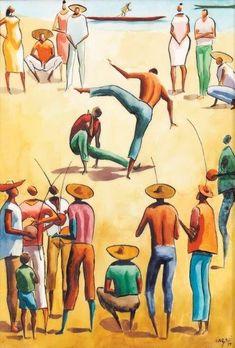 Héctor Carybé Roda de capoeira - vse 1979 - 50 x 35 g