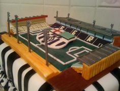Football Soccer stadium cake.JPG
