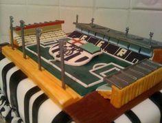 Football Soccer stadium cake.JPG